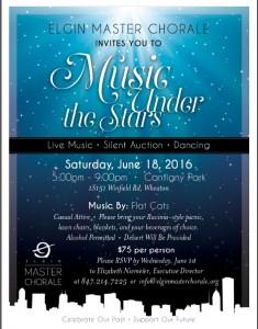 music under stars