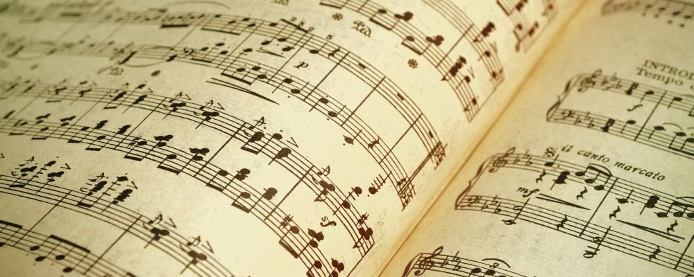Musical Score-slider